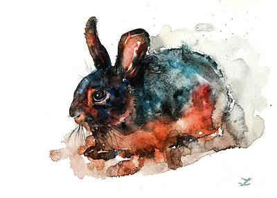 Painting - Tan Rabbit by Zaira Dzhaubaeva