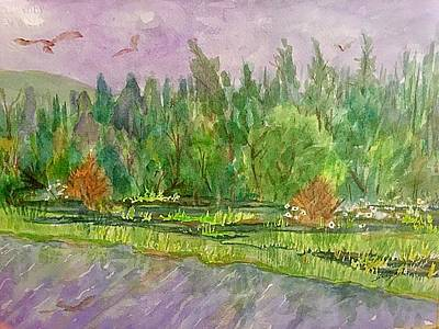 Painting - Tanana River Alaska by Ellen Levinson