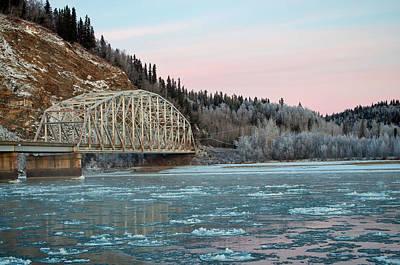 Photograph - Tanana River Bridge At Big Delta by Cathy Mahnke