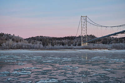 Photograph - Tanana River With Pipeline - Early Morning by Cathy Mahnke
