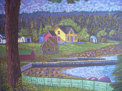 Tancook Houses Art Print by Rae  Smith