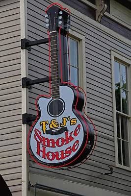 Photograph - Tand J's Smokehouse Guitar by Michiale Schneider
