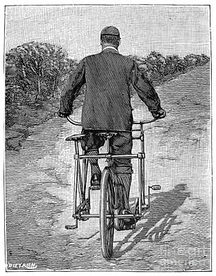 Photograph - Tandem Bicycle, 1896 by Granger