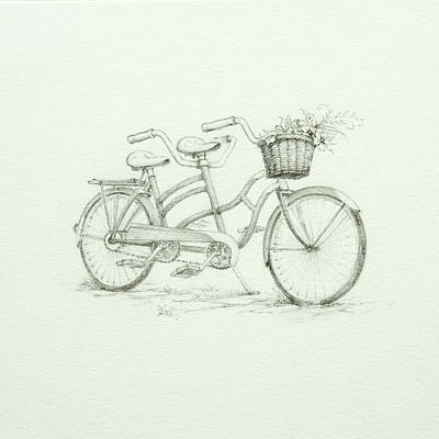 Drawing - Tandem by Lynn Bywaters