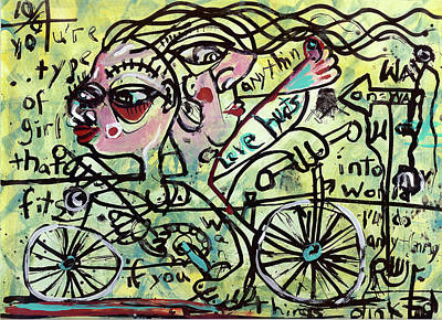 Outsider Art Mixed Media - Tandem by Robert Wolverton Jr