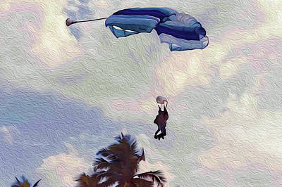 Photograph - Tandem Skydive by Kay Brewer