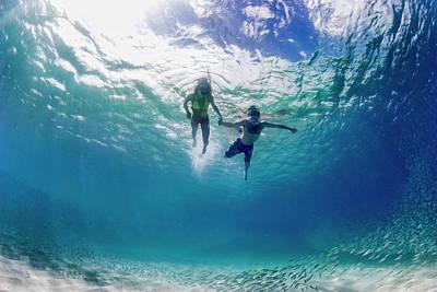Salt Water Photograph - Tandem Swim by Sean Davey