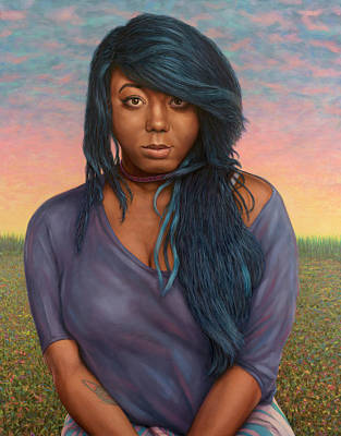 Painting - Tanetra Blue by James W Johnson