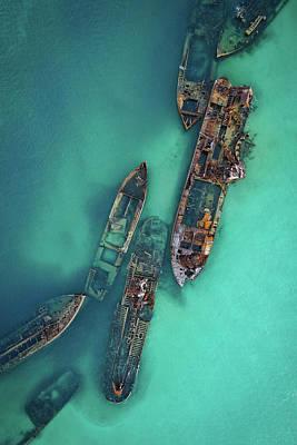 Photograph - Tangalooma Wrecks by Keiran Lusk