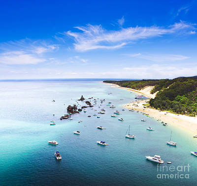 Pleasure Photograph - Tangalooma Wrecks Landscape Queensland Australia by Jorgo Photography - Wall Art Gallery