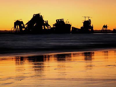 Tangalooma Wrecks Sunset Silhouette Art Print