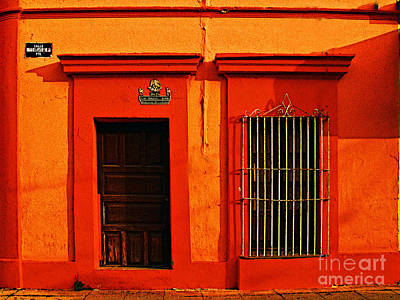 Tangerine Casa By Michael Fitzpatrick Art Print by Mexicolors Art Photography