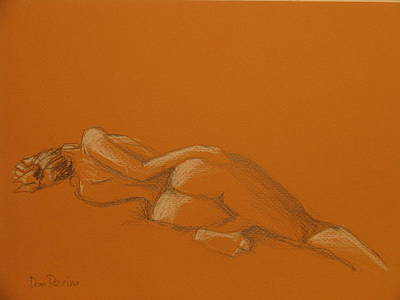 Drawing - Tangerine by Don Perino