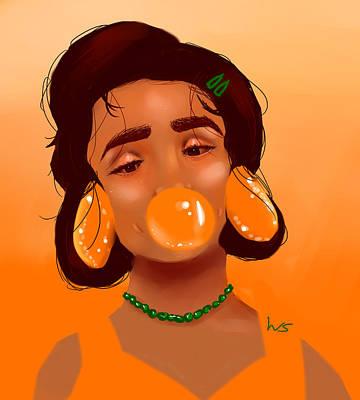 Digital Art - Tangerine Dream by Willow Schafer
