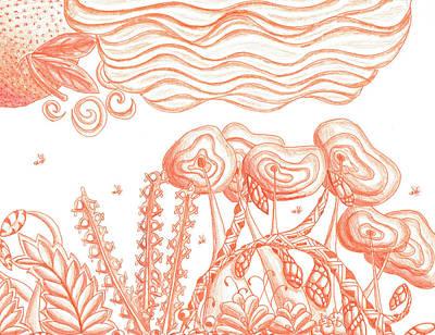 Tangerine Haze Art Print