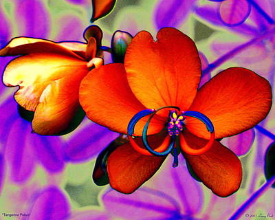 Digital Art - Tangerine Petals by Larry Beat