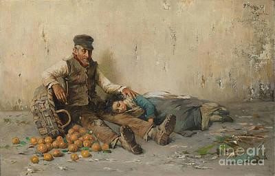 Tangerine Painting - Tangerine Seller by MotionAge Designs