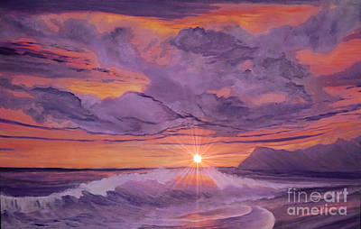 Painting - Tangerine Sky by Holly Martinson