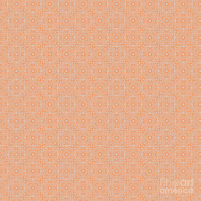 Digital Art - Tangerine Spring Design by Clare Bambers