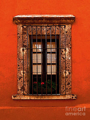 Portal Photograph - Tangerine Window by Mexicolors Art Photography