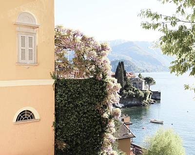 Lago Di Como Photograph - Yellow And Lavender Vista by Brooke T Ryan