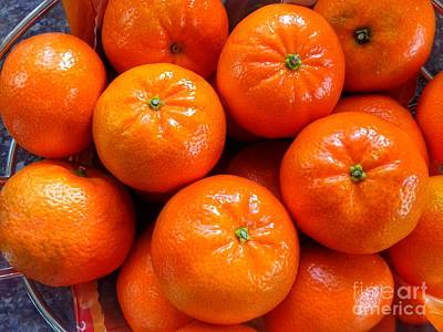 Photograph - Tangerines 2 by Joan-Violet Stretch