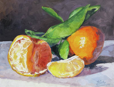 Painting - Tangerines by Irek Szelag