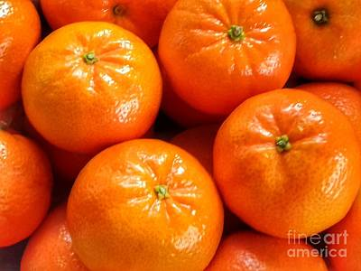 Photograph - Tangerines by Joan-Violet Stretch