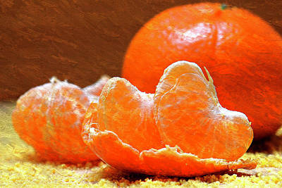 Tangerines Orange Oil Painting Art Print