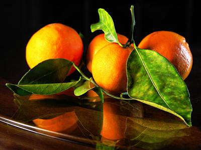 Tangerines Art Print by Robert Och