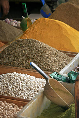 Photograph - Tangier Spices At Market by Jonathan Hansen