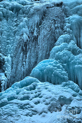 Photograph - Tangle Falls Winter Portrait by Adam Jewell