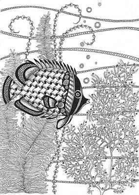 Tangle Fish II Art Print