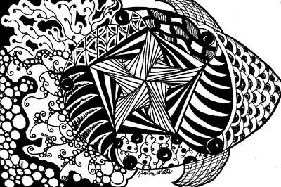 Tangle Fish Art Print by Kristen Watts