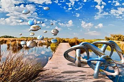 Tangle On The Boardwalk - Something's Not Right Art Print