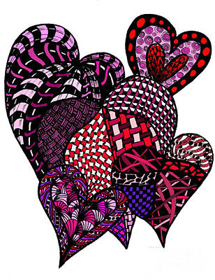 Painting - Tangled Hearts by Nan Wright