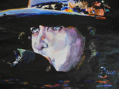 Bob Dylan Painting - Tangled In Blue by Lucia Hoogervorst