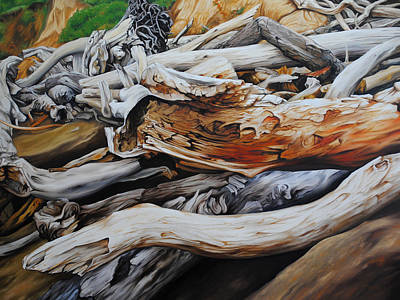 Painting - Tangled Timbers by Chris Steinken