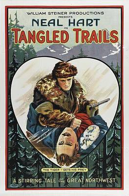 Tangle Drawing - Tangled Trails 1921 by Mountain Dreams