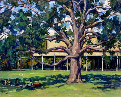 Abstract Realist Landscape Painting - Tanglewood Before The Concert by Thor Wickstrom
