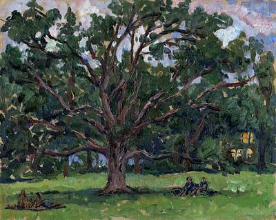 July Painting - Tanglewood Tree by Thor Wickstrom