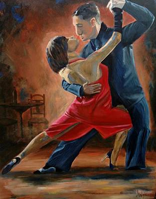 Ballroom Painting - Tango by Angie Wright