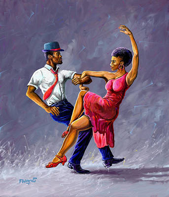 Painting - Tango by Anthony Mwangi