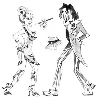 Schizzo Drawing - Tango Argentino - Milonga Buenos Aires by Arte Venezia