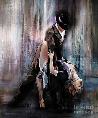 Tango Painting - Tango Couple 05 by Gull G