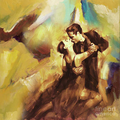 Tango Couple Dance 07 Art Print