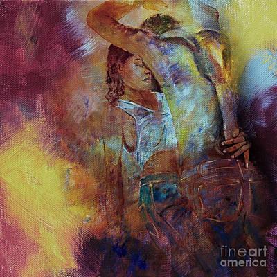 Tango Couple Dance Vby7 Art Print by Gull G