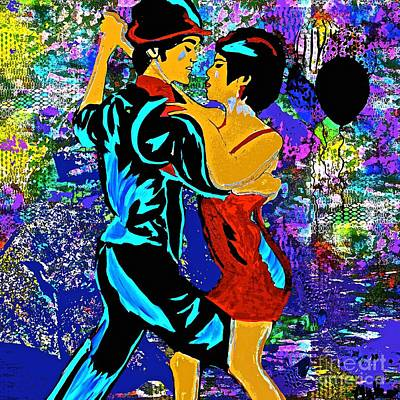 Painting - Tango  Dance The Tango With Me My Love by Saundra Myles
