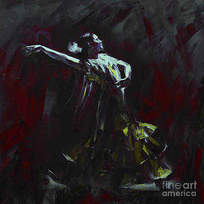Vintage Painting - Tango Dancer 03 by Gull G