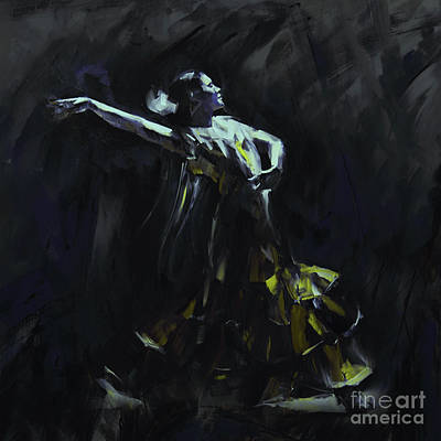 Dancing Painting - Tango Dancer 04 by Gull G